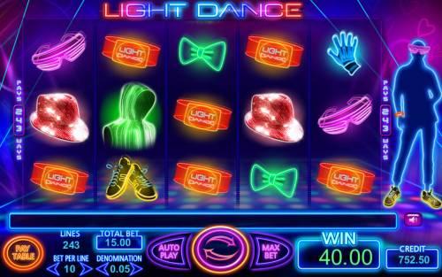 Light Dance Big Bonus Slots A winning five of a kind