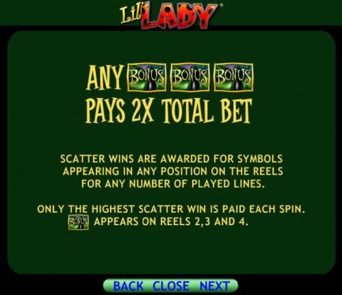 Lil' Lady review on Big Bonus Slots