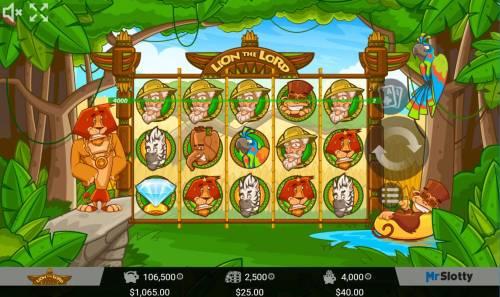 Lion the Lord Big Bonus Slots A winning Three of a Kind.