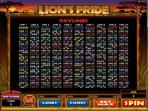 Lion's Pride review on Big Bonus Slots