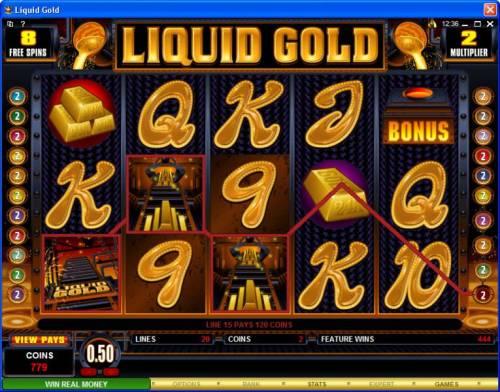 Liquid Gold review on Big Bonus Slots