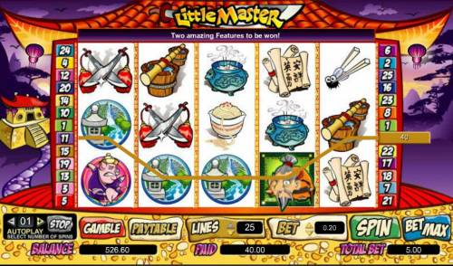 Little Master Big Bonus Slots four of a kind triggers 40 coin jackpot