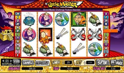 Little Master Big Bonus Slots grand master challenge feature awarded