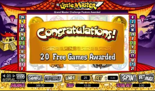 Little Master Big Bonus Slots 20 free games awarded