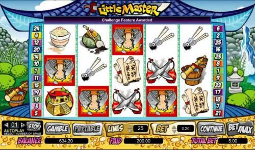 Little Master Big Bonus Slots challenge feature triggered