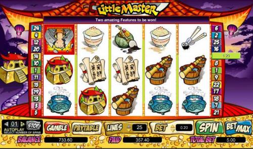 Little Master Big Bonus Slots the free games feature paid out a 357 coin big win jackpot