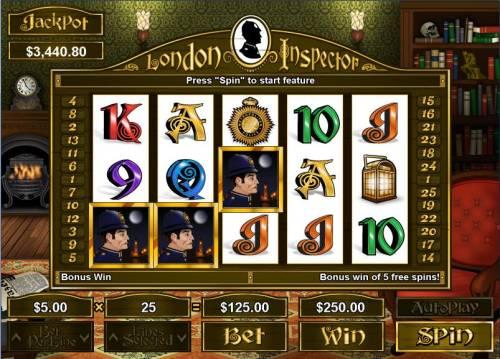 London Inspector Big Bonus Slots Bonus Round Hit