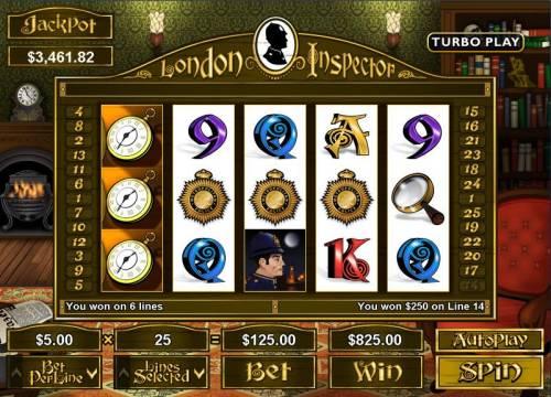 London Inspector Big Bonus Slots Super Slot Win