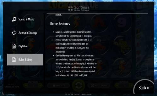 Lucky Blue review on Big Bonus Slots