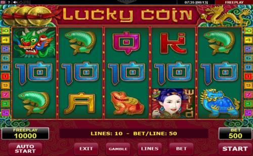Lucky Coin Big Bonus Slots Main Game Board