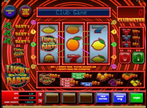 Lucky Darts review on Big Bonus Slots