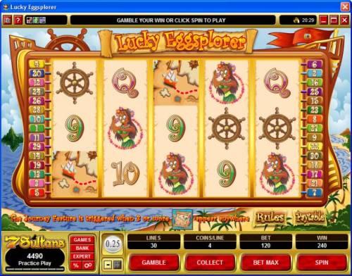 Lucky Eggsplorer review on Big Bonus Slots