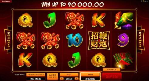 Lucky Firecracker Big Bonus Slots A four of a kind leads to a 2,000.00 jackpot