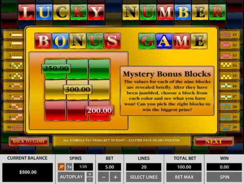 Lucky Number review on Big Bonus Slots