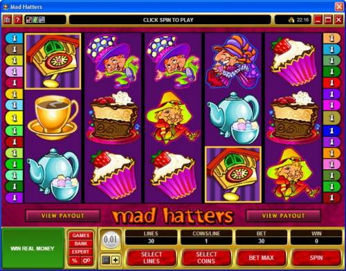 Mad Hatters review on Big Bonus Slots