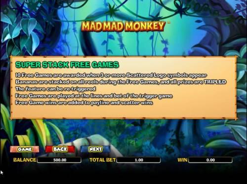 Mad Mad Monkey Big Bonus Slots super stack free games rules