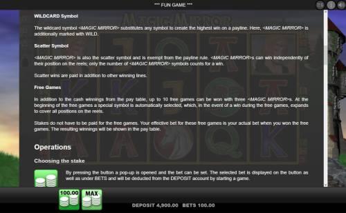 Magic Mirror review on Big Bonus Slots