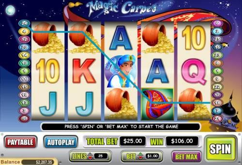 Magic Carpet review on Big Bonus Slots