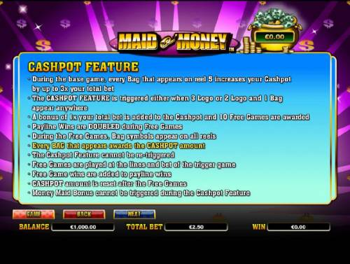 Maid o' Money review on Big Bonus Slots