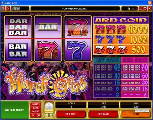 Mardi Gras review on Big Bonus Slots