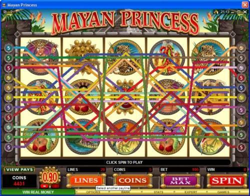 Mayan Princess review on Big Bonus Slots
