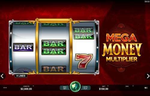 Mega Money Multiplier review on Big Bonus Slots
