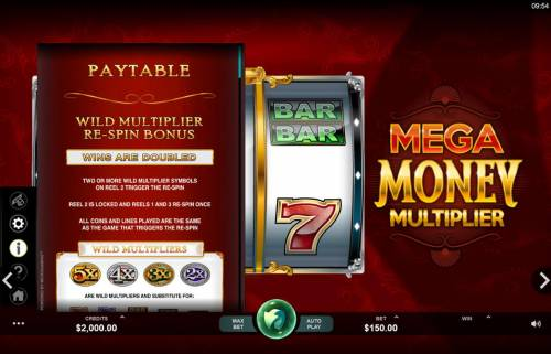 Mega Money Multiplier review on Big Bonus Slots
