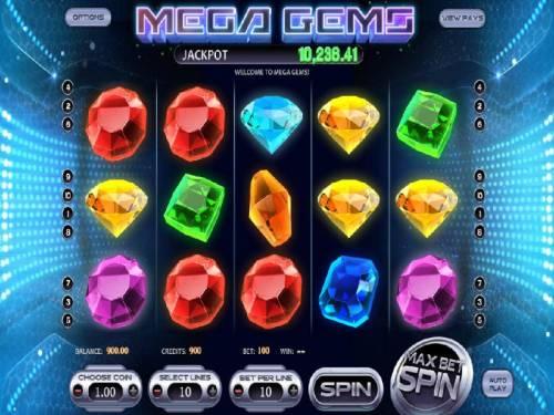 Mega Gems review on Big Bonus Slots