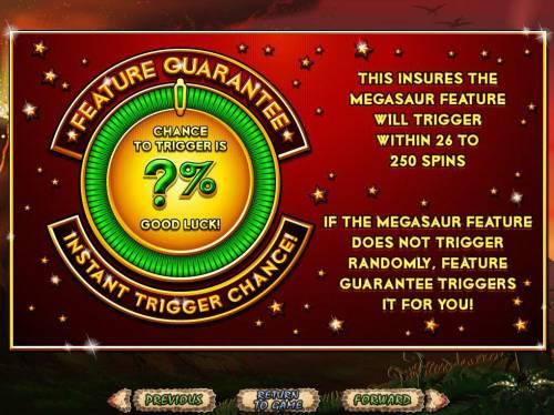Megasaur review on Big Bonus Slots