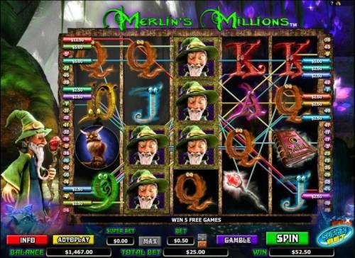 Merlin's Millions review on Big Bonus Slots