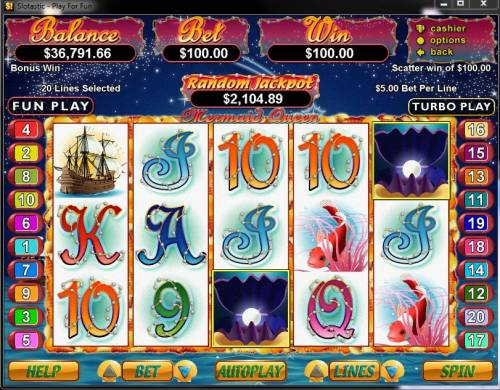 Mermaid Queen review on Big Bonus Slots