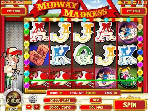 Midway Madness review on Big Bonus Slots
