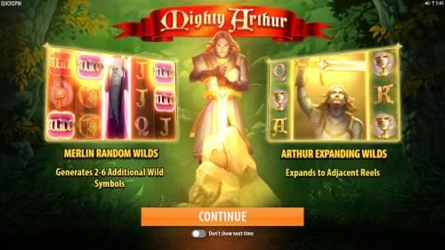 Mighty Arthur review on Big Bonus Slots