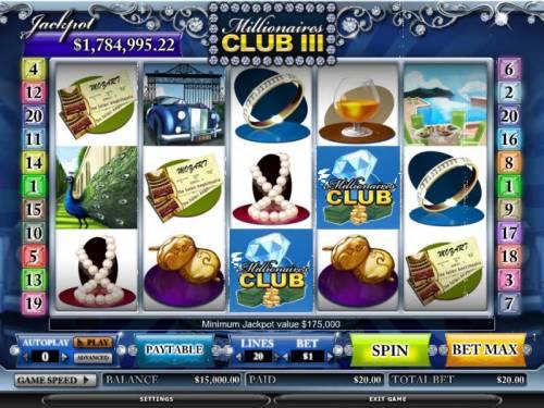 Millionaires Club III review on Big Bonus Slots