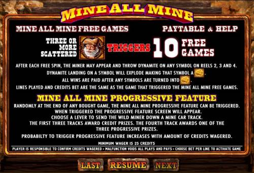 Mine All Mine review on Big Bonus Slots