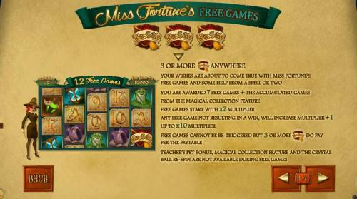 Miss Fortune review on Big Bonus Slots