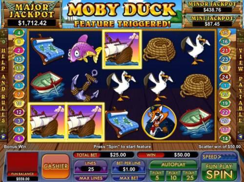 Moby Duck review on Big Bonus Slots
