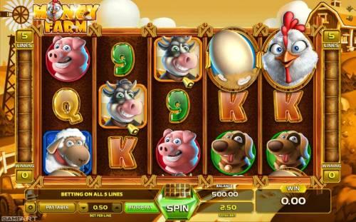 Money Farm Big Bonus Slots Main Game Board
