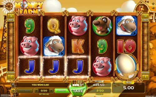 Money Farm Big Bonus Slots A winning Three of a Kind