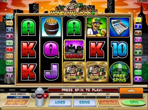 Money Mad Monkey review on Big Bonus Slots