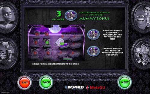 Monster Cash Big Bonus Slots Mummy Bonus Rules