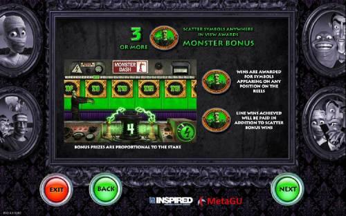 Monster Cash Big Bonus Slots Monster Bonus Rules