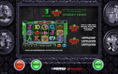 Monster Cash Big Bonus Slots Spooky Spins Rules