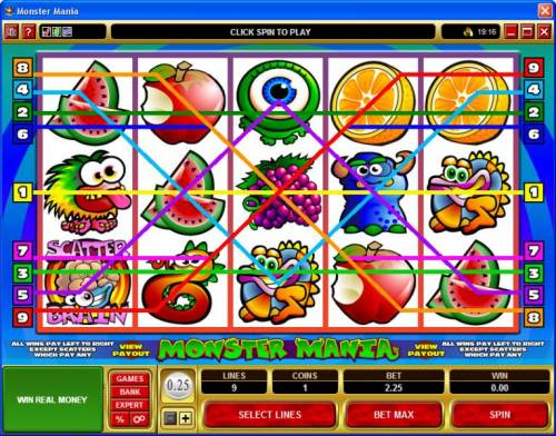 Monster Mania review on Big Bonus Slots