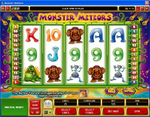 Monster Meteors review on Big Bonus Slots