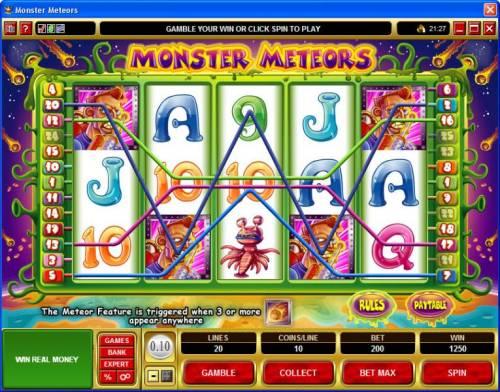 Monster Meteors review on Big Bonus Slots
