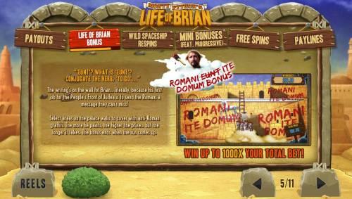 Monty Python's Life of Brian review on Big Bonus Slots