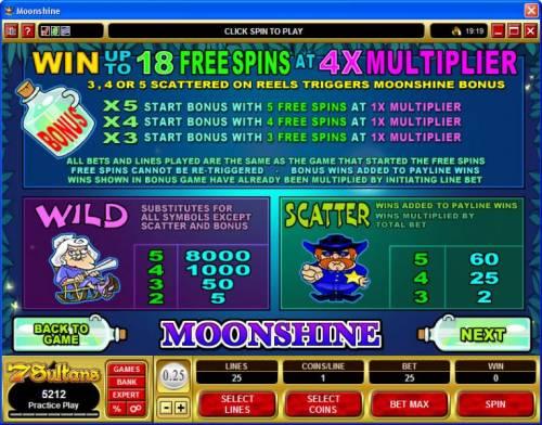 Moonshine review on Big Bonus Slots
