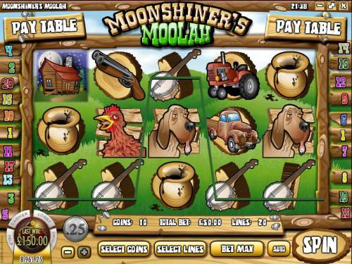 Moonshiner's Moolah review on Big Bonus Slots
