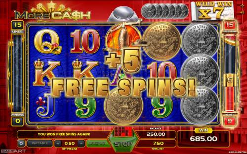 More Cash Big Bonus Slots 5 Free Spins Awarded